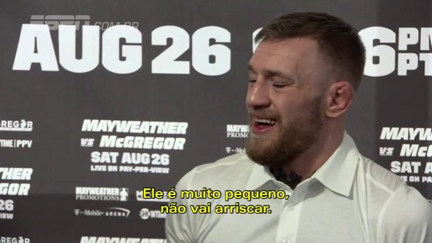 Para McGregor, diferença de peso será decisiva contra Mayweather: 'Está acabado antes mesmo de começar'