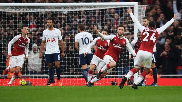 Veja os gols da vitória do Arsenal sobre o Tottenham por 2 a 0 pela Premier League