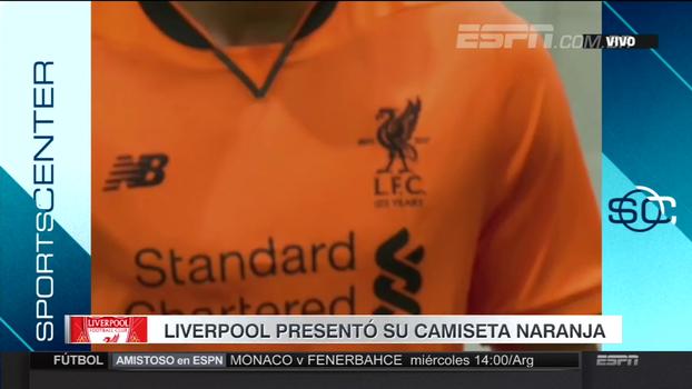 Liverpool lança nova camisa 3 laranja