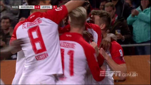 Augsburg surpreende, vence o Leipzig e assume 3ª colocação da Bundesliga
