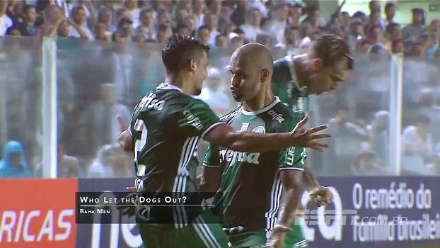 Soltou o Pitbull! Felipe Melo vibra, dança e provoca em vitória sobre o Santos