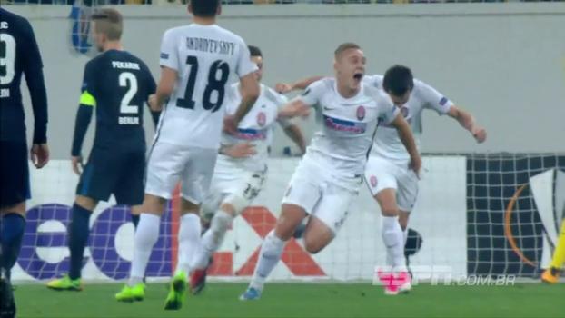 Com gol de letra, Zorya bate Hertha Berlin e complica time alemão na Europa League