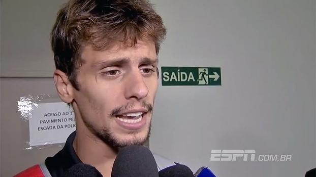 Rodrigo Caio festeja gol, mas destaca 'gosto amargo' de empate com o Mirassol
