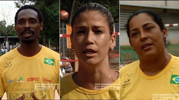 Diogo Silva, Érika Coimbra e Zezé Sales passaram pela Caravana do Esporte e das Artes em 2015