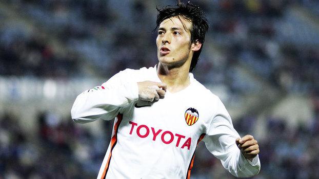 Relembre o jogo de David Silva pelo Valencia diante do Sporting Gijón