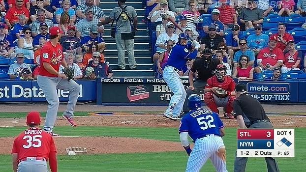 Com um home run para cada lado, Mets e Cardinals empatam em 3 a 3 pela pré-temporada da MLB