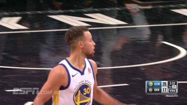 Com 39 pontos, Curry dá show em nova vitória dos Warriors; veja os melhores momentos do jogador contra os Nets