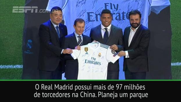 De olho no mercado asiático: Ronaldo 'Fenômeno' vai à China como representante do Real Madrid