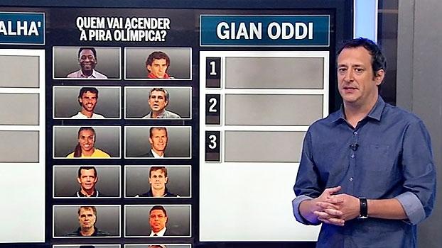 Gian informa que Guga pode ser o escolhido para acender a pira olímpica