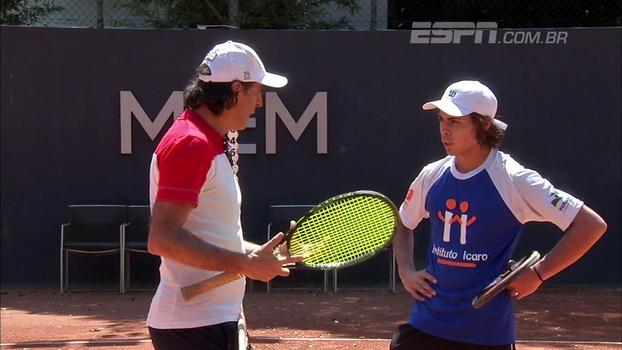 Pelo esporte: como Meligeni se dedica para treinar juvenis e lutar pela evolução do tênis