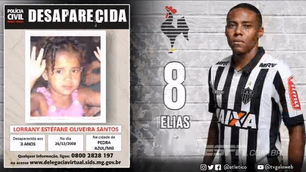 Atlético-MG divulga escalação com cartazes de crianças desaparecidas; veja