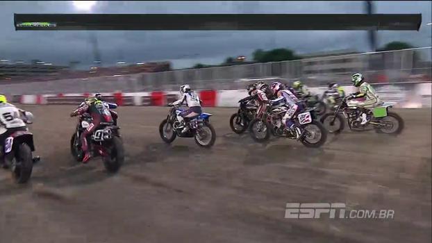 Vitória de Halbert e disputa pelo segundo lugar; veja como foi a Moto X Flat Track
