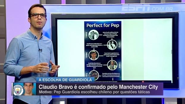 Saiba como Cruyff, mentores de Guardiola e antigo preparador do Ajax predestinaram ida de Bravo ao City
