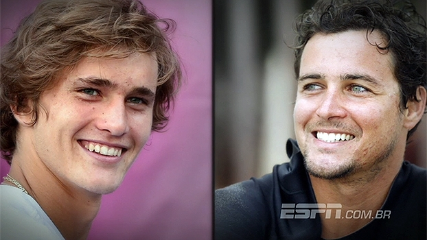 Dupla perfeita? Alexander Zverev é sósia de Felipe Dylon nas quadras do Australian Open