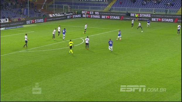 Sampdoria atropela o Crotone e ultrapassa Roma no Italiano
