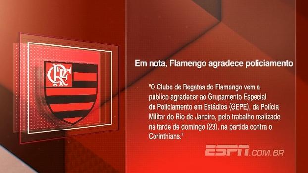 Em nota, Flamengo agradece policiamento do Maracanã