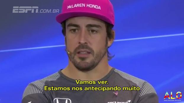 Alonso anuncia que continuará na McLaren em 2018: 'Estou feliz e orgulhoso por manter esse relacionamento'