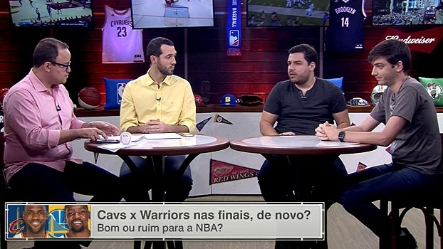 Convidados do 'Bola Presa' falam sobre chances de Cavs e Warriors se encontrarem em final