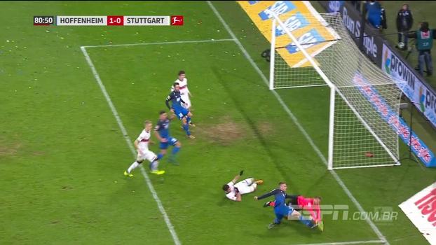 Com gol chorado e no fim do jogo, Hoffenheim bate o Stuttgart e chega ao 3º lugar do alemão