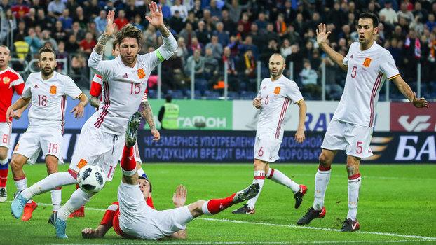 e7675f2271 Amistoso  Gols de Rússia 3 x 3 Espanha - ESPN