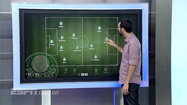 Será que chega? Hofman monta time do Palmeiras com Diego Souza de falso 9 ou meia