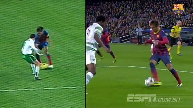 Barcelona divulga vídeo comparando lances de Ronaldinho e Neymar
