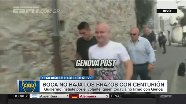 Centurión chega à Itália e passa por exames médicos no Genoa, mas quer seguir no Boca