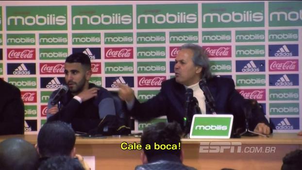 Técnico da Argélia se incomoda com pergunta e explode: 'Você é inimigo da seleção! Não respeito você! Cale a boca! Se aposente!'