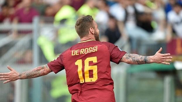 Depois de Totti, ele é o capitão! De Rossi renova com a Roma por mais duas temporadas