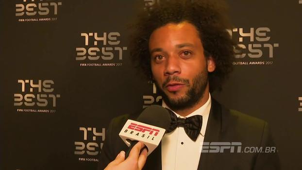 Marcelo celebra título de Cristiano Ronaldo, mas diz: 'Gostaria que o Neymar ganhasse também'