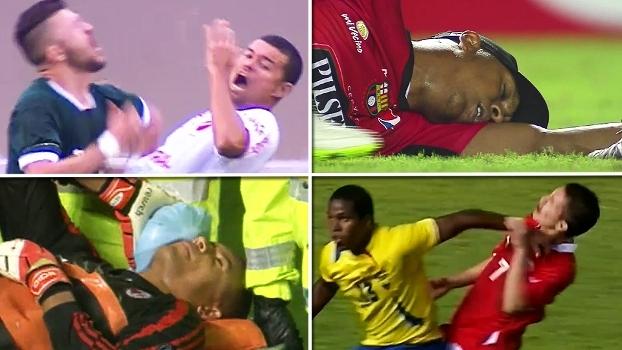 Mergulhos, aviãozinho de papel, ataque cardíaco e desmaio; 'Top 10' relembra simulações absurdas no futebol