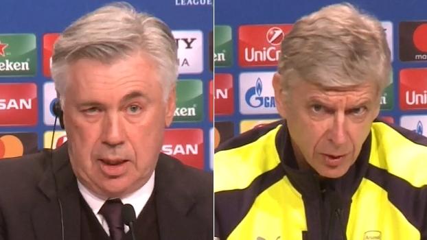 Ancelotti vê Arsenal perigoso, e Wenger diz: 'Devemos ter confiança'