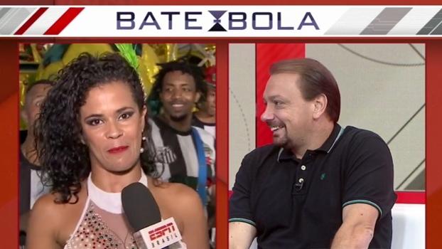 Sambista desafia Alê Oliveira a sambar ao vivo! Será que ele caiu na dança?