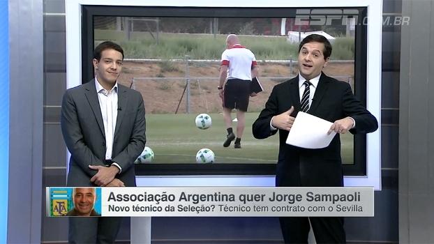 Rafa Oliveira: 'Olhando para filosofia, Sampaoli é opção mais interessante para Argentina'