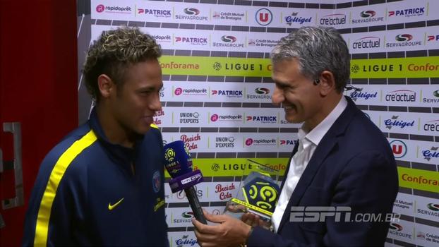 Feliz, Neymar comemora grande estreia e diz que se sentiu muito confortável em campo: 'Eles me deixaram assim'