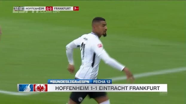 Boateng faz golaço e abre para o Frankfurt, mas Hoffenheim arranca empate nos acréscimos