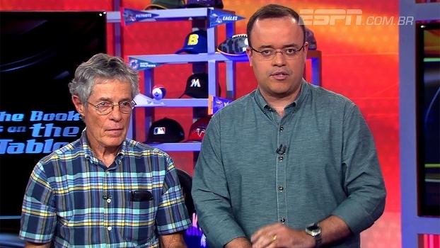 1º comentarista de NFL no Brasil visita estúdio da ESPN, o mesmo em que transmitia há mais de 40 anos