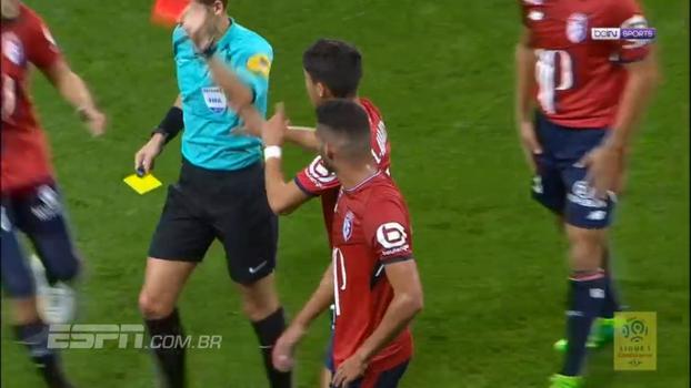 Thiago Maia é expulso por entrada em Malcom, brasileiros criam chances de gol e Lille e Bordeaux empatam; veja