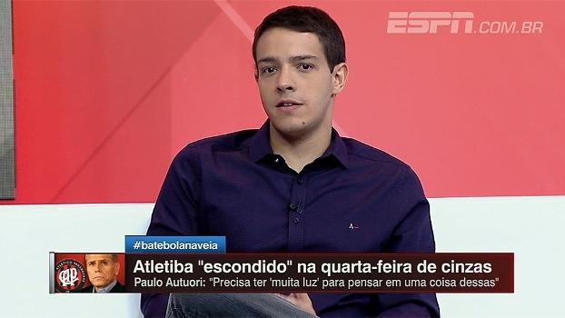 Rafael Oliveira não vê culpa em Atletiba na Quarta-feira de Cinzas e afirma: 'Três primeiros meses do futebol brasileiro são escondidos'