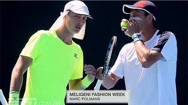 Peruca brasileira e boné estilo Chaves: os momentos Meligeni Fashion Week no Australian Open