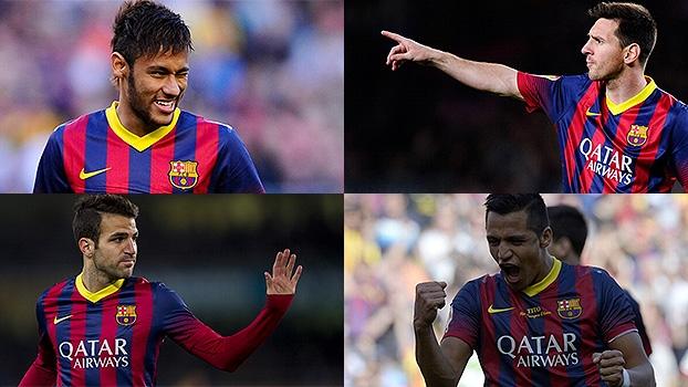 Dribles de Neymar, 'cavadinhas' de Messi e Fábregas e classe de Alexis Sánchez: golaços do Barça