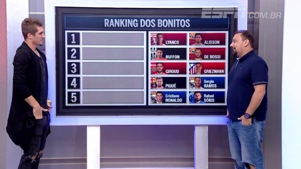 Alisson, Buffon, Piqué...Alê Oliveira ranqueia os 'bonitões' do futebol