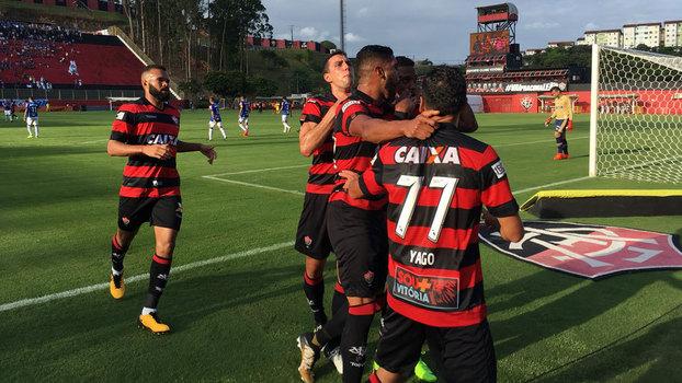 Veja os gols de Vitória 1 x 1 Cruzeiro