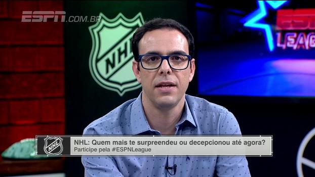 Thiago Simões aponta principais surpresas da temporada da NHL