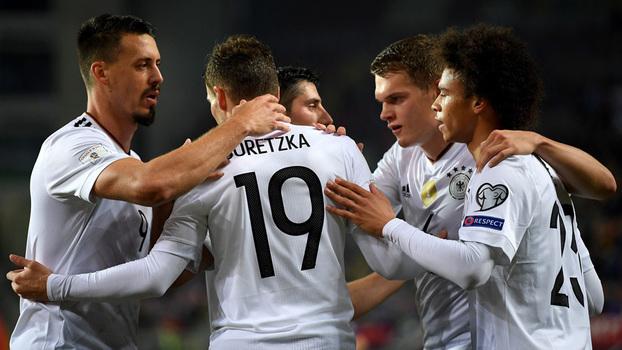 Assista aos lances da vitória da Alemanha sobre o Azerbaijão por 5 a 1!