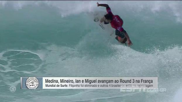 Surfe: quatro brasileiros avançam ao 3º Round na etapa da França, mas Filipinho é eliminado
