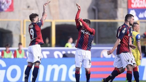 Com dois de Dzemaili, Bologna vence o Chievo em casa por 4 a 1