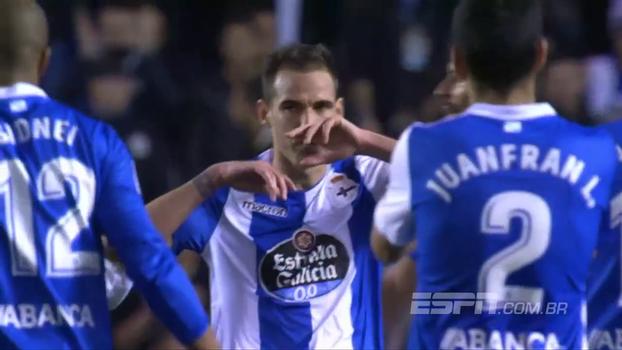 Assista ao gol da vitória do Deportivo La Coruña sobre o Leganés por 1 a 0!
