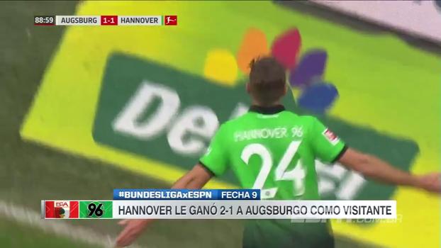 Assista aos gols da vitória do Hannover sobre o Augsburg por 2 a 1!