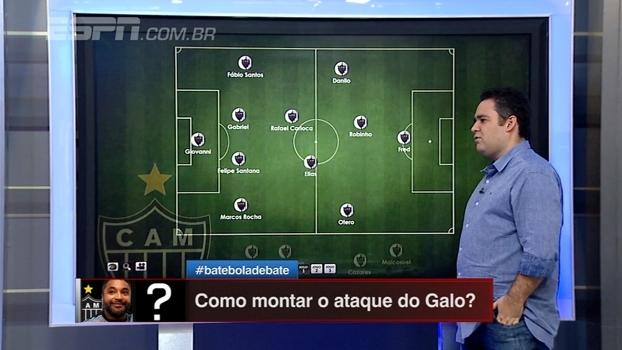 Bertozzi monta equipe do Atlético-MG com Robinho como '10' e Danilo e Otero nas pontas; veja